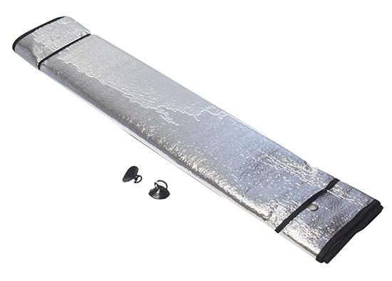 Sluneční clona do auta čelní sklo Alu 130 x 60 cm, stříbrná