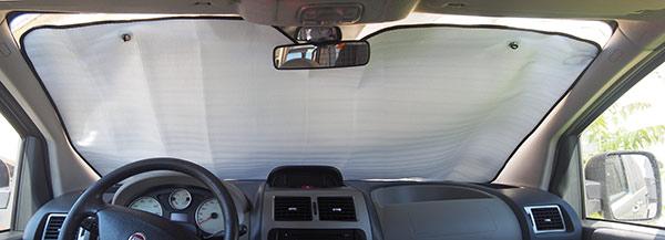 Sluneční clona do auta čelní sklo Alu 145 x 70 cm, stříbrná
