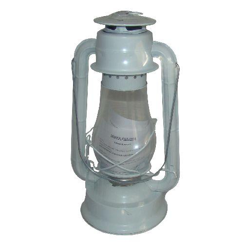 Petrolejka - petrolejová lampa kovová 31 cm, bílá
