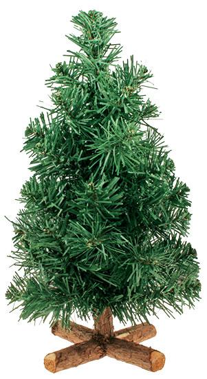 Umělý vánoční stromek se stojanem 30 cm