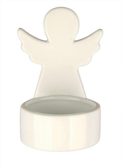 Keramický svícen Anděl 9 cm