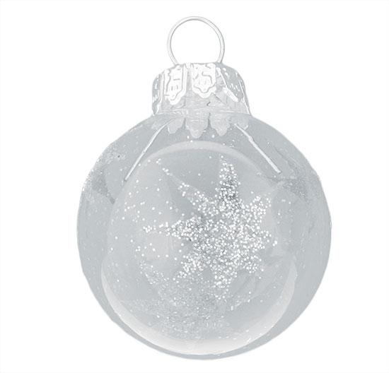 Skleněné Mini baňky se stříbrnou hvězdou 3 cm, 12ks