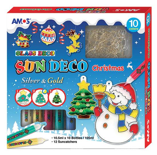 Barvičky na sklo Christmas 10 barev 10,5 ml + 12 sklíček