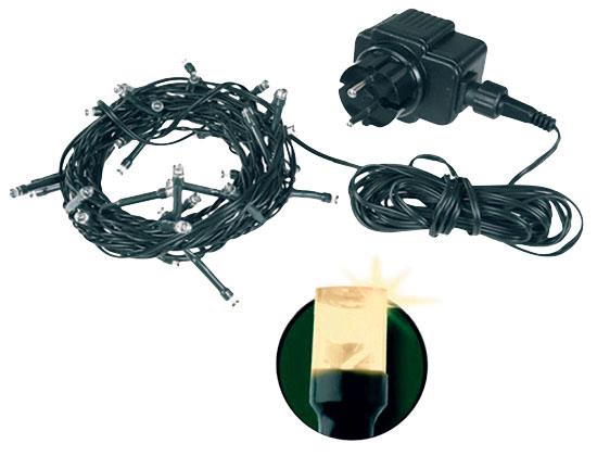Vánoční osvětlení LED 768 s časovačem, Řetěz 76 m + 5 m přívodní kabel, teplá bílá