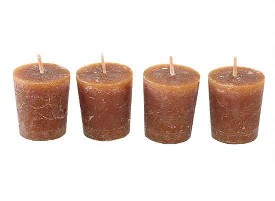Vonné vánoční svíčky Cappuccino 4 x 4,5 cm, 4 ks
