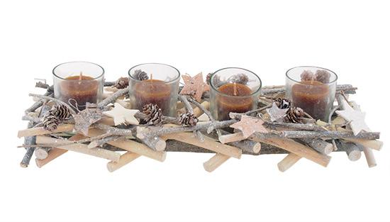 Svícen adventní Hvězdy na 4 svíčky