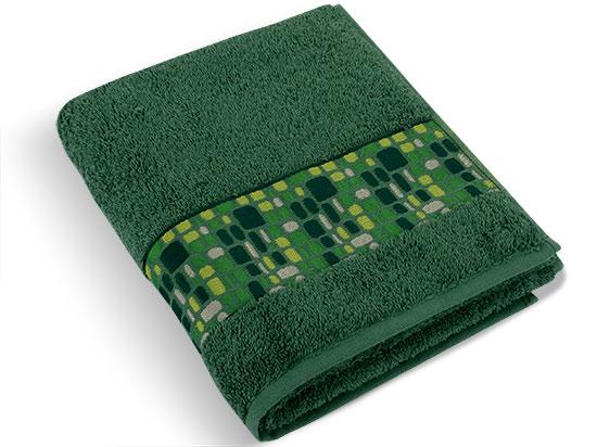 Ručník froté kameny 50 x 100 cm, zelená