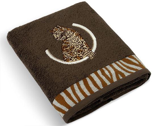 Ručník Leopard 500 g/m2, 50 x 100 cm, tmavě hnědá