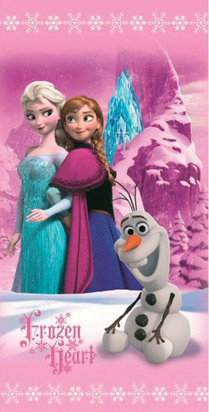Osuška Frozen Pinkie trio