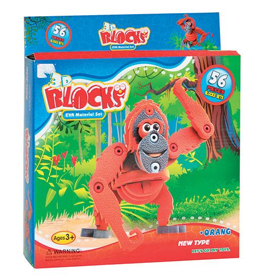 3D puzzle Eva pěna Orangutan 56 dílků 3+