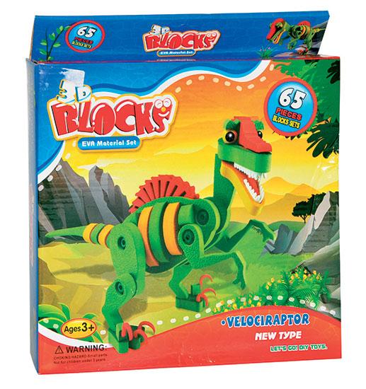 3D puzzle Eva pěna Dinosaurus 65 dílků 3+