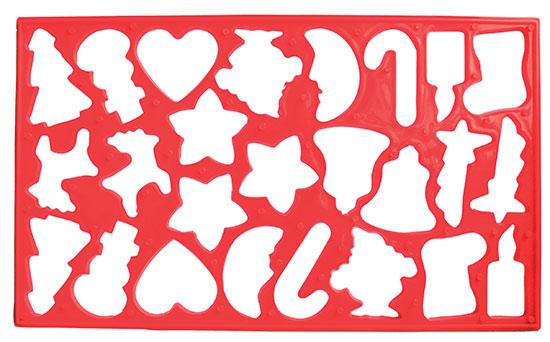 Vánoční vykrajovátka na cukroví plato 37 x 22 cm, 25 formiček