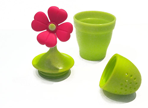 Čajové sítko na sypaný čaj - čajítko Květina Ado7524 silikonové