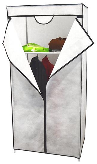 Textilní šatní skříň s policí Ado1395 - mobilní