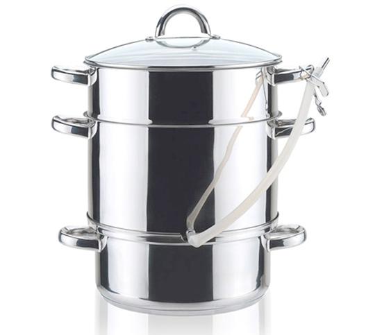 Nerezový hrnec na odšťavňování a vaření v páře TOWER 8 l, Banquet