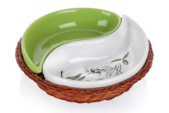 Misky v proutěném košíku OLIVES 20,5 cm, 2 ks, Banquet