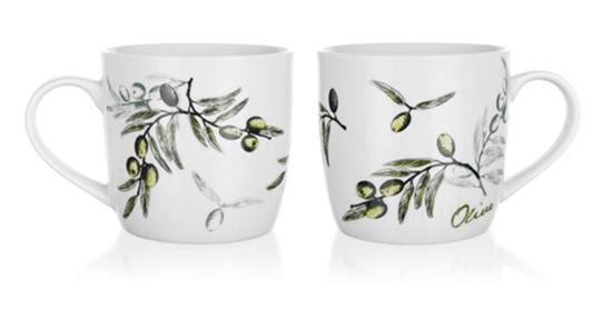 Sada keramických hrnků na kávu a čaj  OLIVES 360 ml, 2 ks, Banquet