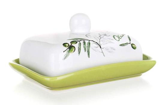 Máslenka, keramická dóza na máslo OLIVES 17.5x13x8 cm, Banquet