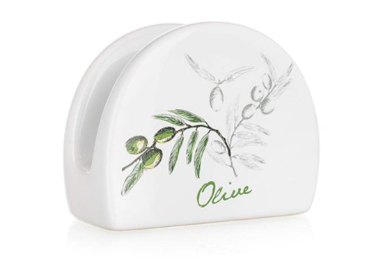 Stojánek na ubrousky keramický OLIVES, Banquet