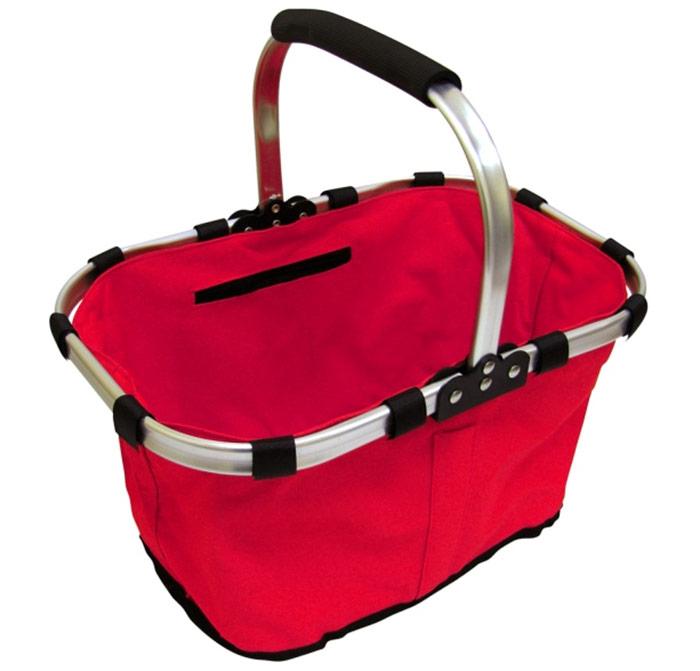 Skládací košík červený Adodo 42 x 28 x 23 cm, Fortel