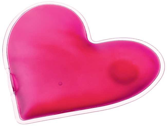 Hřejivý polštářek gelový do kapsy, srdce Lovely