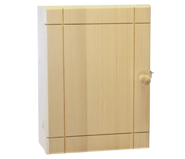 Skříňka a věšák na klíče z masivu Klasik, Ado 30 x 23 x 7 cm