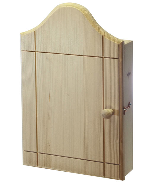 Skříňka a věšák na klíče z masivu Retro, Ado 38 x 23 x 7 cm