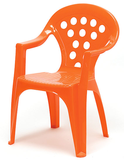 Dětské křesílko stohovatelné Adodo 5002, oranžové