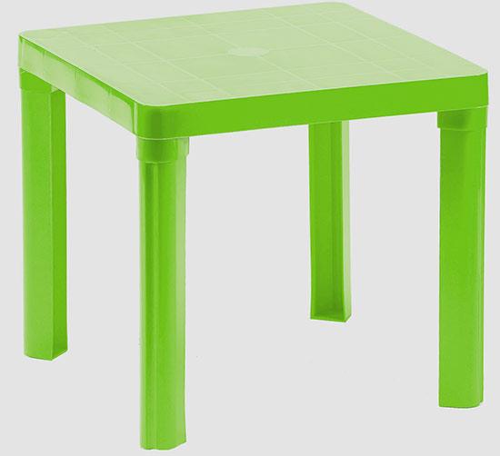 Dětský plastový stoleček Adodo 5004, 46 x 46 x 42 cm, zelený