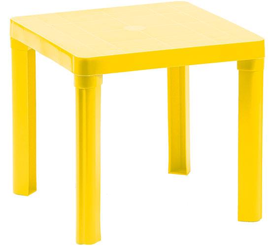 Dětský plastový stoleček Adodo 5004, 46 x 46 x 42 cm, žlutý