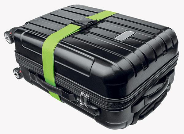 Bezpečnostní popruh na kufr Adodo 1023, 173 cm, zelená