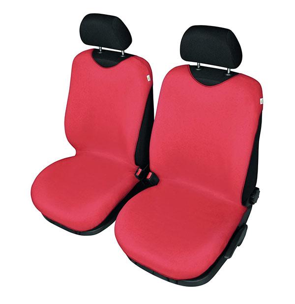 Univerzální potahy na 2 přední sedadla do auta Tričko 708, červená