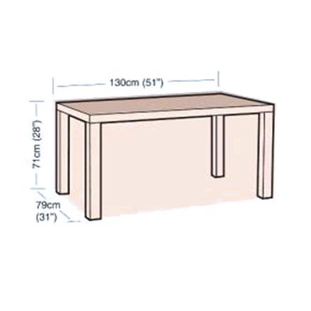 Ochranný obal na zahradní stůl obdélníkový, 130 x 79 x 71 cm