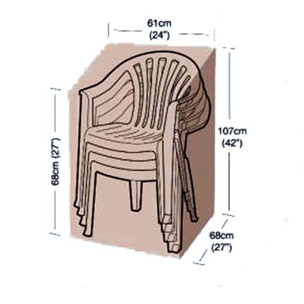 Ochranný obal na zahradní stohovatelné židle, 61 x 68 x 107 cm