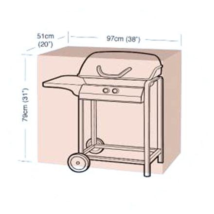Ochranný obal na gril Classic, velikost S, 97 x 51 x 79 cm