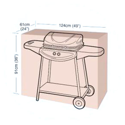 Ochranný obal na gril Classic, velikost M, 124 x 61 x 91 cm