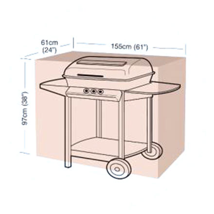 Ochranný obal na gril Classic, velikost L, 155 x 61 x 97 cm