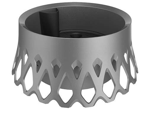 Žardina samozavlažovací Roseta pr. 40 cm, stříbrná