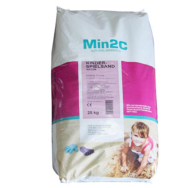 Písek do pískoviště a na dětská hřiště Natur, 0 - 2 mm, 25 kg, Min2C