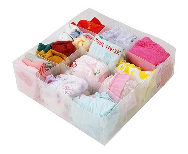 Úložný a přepravní box na kravaty, ponožky a prádlo Box L, 31x31cm