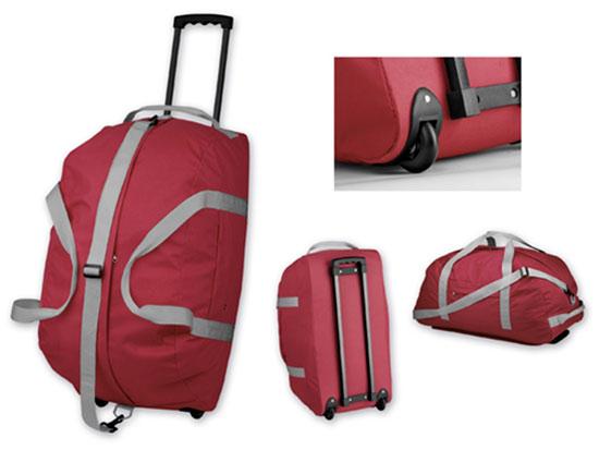 Cestovní taška na kolečkách Hilton 600D, 62 x 31 x 32 cm - červená, Reda