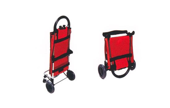 Skládací nákupní taška na kolečkách Venezia, 50 l, červená