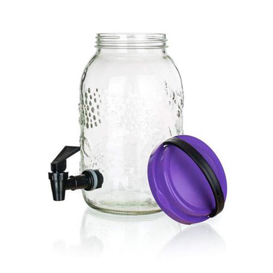 Skleněný džbán s kohoutkem na vodu 5 l