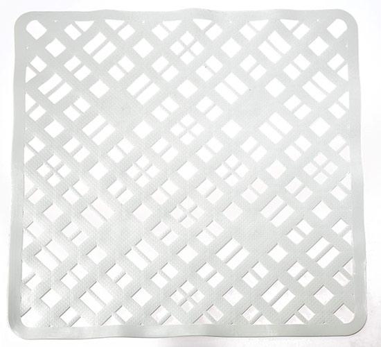Protiskluzová podložka do sprchy 55x55 cm, bílá