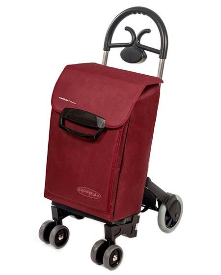Bezpečná nákupní taška na kolečkách pro seniory Forza 6, bordó