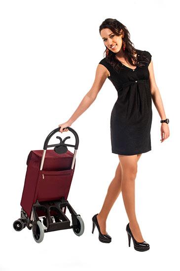 Bezpečná nákupní taška na kolečkách pro seniory Forza 6, černá