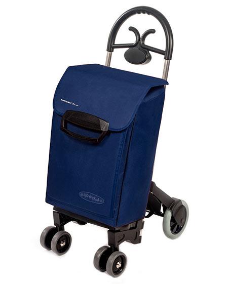 Bezpečná nákupní taška na kolečkách pro seniory Forza 6, modrá