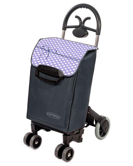 Bezpečná nákupní taška na kolečkách pro seniory Forza 6, šedá