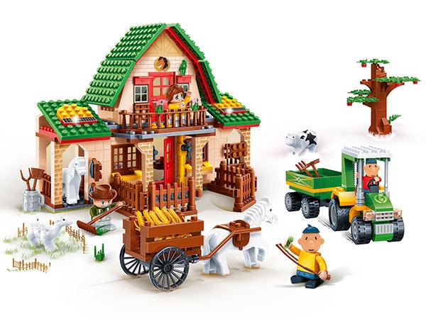 BanBao stavebnice Eco Farm Pat a Mat velká farma 541ks