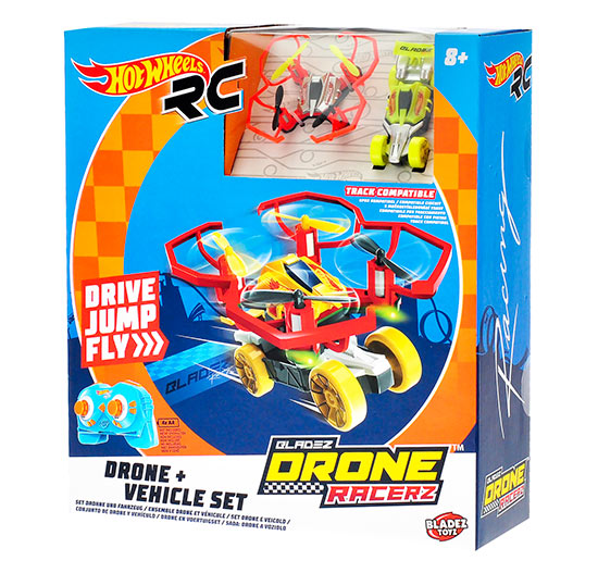 Hot Wheels Quad Racerz auto 7,6 cm, 2,4GHz na baterie s USB, ROZBALENO